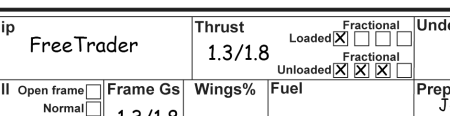 Free traderDatacard fractional thrusts