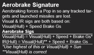 Aerobrake signature